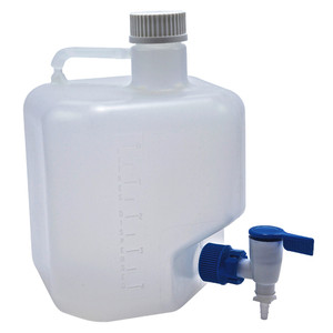 Rectangular Dispensing Carboy with Spigot, 5 Liter, PP