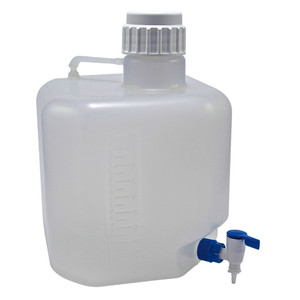 Carboy with Stopcock, 10L Polypropylene, Octagonal