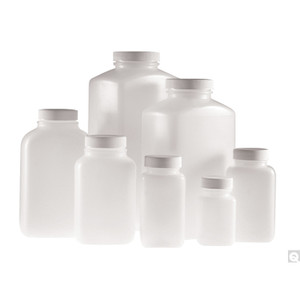 17oz (500mL) HDPE Wide Mouth Oblong Bottle, 43-400 PP Unlined Caps, case/160