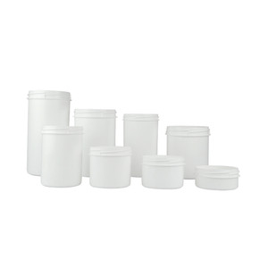 1,500mL White HDPE Storage Jar, 116mm opening, case/60
