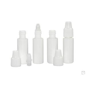 3mL LDPE Cylinder Dropper Bottle Only, 8mm Neck, case/6000