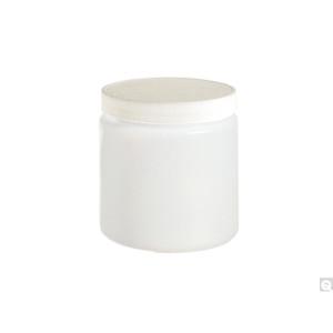 16oz (480mL) HDPE Straight Sided Jar, 89-400 PP SturdeeSeal PE Foam Lined Caps, case/144