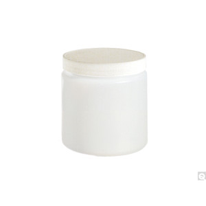32oz HDPE Straight Sided Jar, 89-400 White Metal Plastisol Lined Caps, case/84