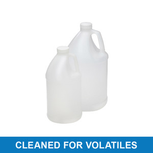 4L HDPE Round, 38-400 PP SturdeeSeal PE Foam Lined Cap, Cleaned for Volatiles, case/4