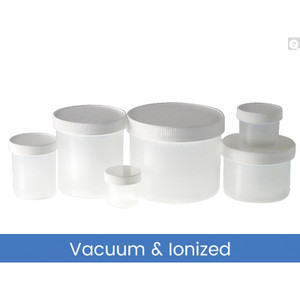 2oz (60mL) PP Jar, 53-400 PP Unlined Caps, Vacuum & Ionized, case/48