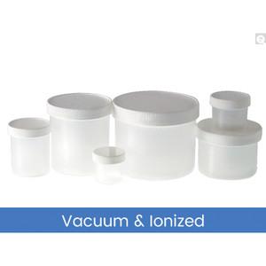 16oz (480mL) PP Jar, 89-400 PP Unlined Caps, Vacuum & Ionized, case/112
