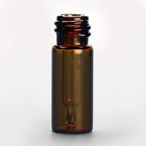 12 x 32mm 300uL Amber Big Mouth Interlocked Vial with Insert and 10-425 neck finish, vial only, case/100