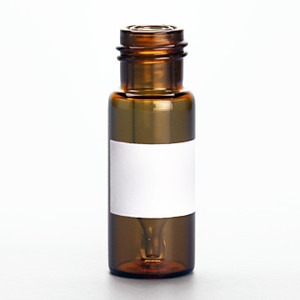 12 x 32mm 300uL Amber Large Opening Interlocked Vial with Insert and 9-425 neck finish, White Marking Spot, vial only, case/100