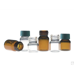 14.75 x 26mm 0.50 dram (1.85ml) Amber Borosilicate Compound Vial with 13-425 neck finish, vial only, case/144