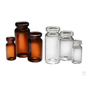 21.75 x 40mm 5ml Amber Crimp Serum Neck Vial with 20mm neck finish, vial only, case/1200
