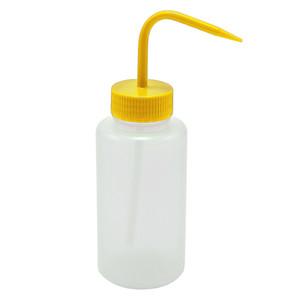 Wash Bottles, 500mL, LDPE, Yellow Lid, pack/5