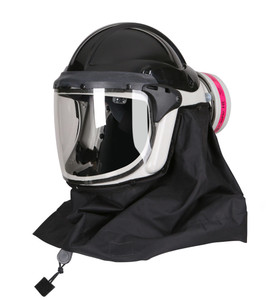 PureFlo PF60 ESM+ PAPR with Hard Hat, Industrial NIOSH Safety Respirator