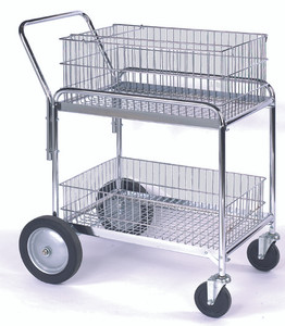 "Wire Office Cart, 23.75""W x 38.25""H x 33.5""L"