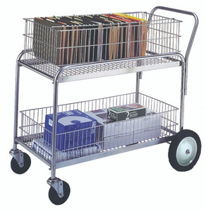 "Wire Office Cart, 23.75""W x 38.5""H x 43""L"