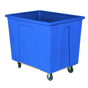 Blue Plastic Box Truck with 8 Bushels and 450 lb Capacity