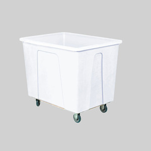 White Plastic Box Truck with 12 Bushels and 550 lb Capacity