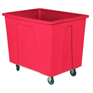 Red Plastic Box Truck with 12 Bushels and 550 lb Capacity