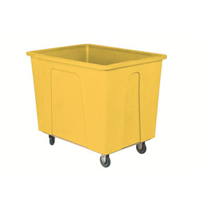 Yellow Plastic Box Truck with 12 Bushels and 550 lb Capacity