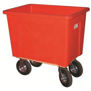 Red Plastic Box Truck 8 Bushels, 450 lb Capacity