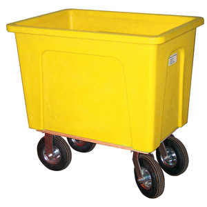 Yellow Plastic Box Truck 8 Bushels, 450 lb Capacity