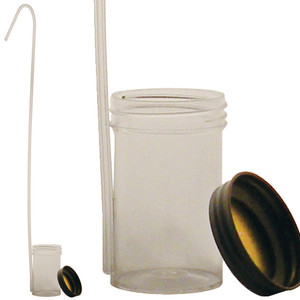 Dippa, Clear Polystyrene Dipper, Sterile, Metal Closure, 100mL, case/100