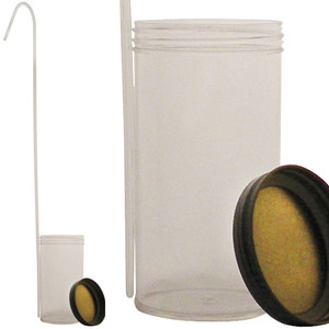 Dippa, Clear Polystyrene Dipper, Sterile, Metal Closure, 250mL, case/50