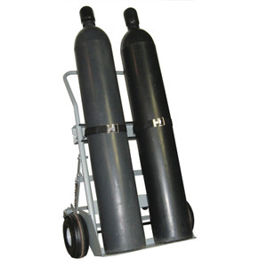 "Double Cylinder Hand Truck, 10.5"" Pneumatic Wheels, Rear Casters"