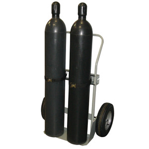 "Double Cylinder Hand Truck, 16"" Pneumatic Wheels"