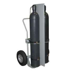 "Double Cylinder Hand Truck with Firewall, 16"" Pneumatic Wheels"