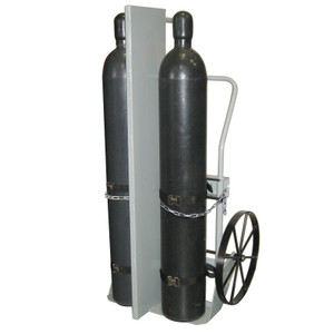 "Double Cylinder Hand Truck with Firewall, 20"" Steel Wheels"