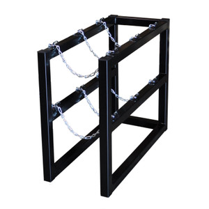 Gas Cylinder Barricade Rack, 3 Cylinder Capacity, 1 Wide / 3 Deep