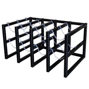 Gas Cylinder Barricade Rack, 12 Cylinder Capacity, 4 Wide / 3 Deep