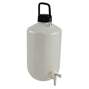 Carboy with Spigot, HDPE, Heavy Duty, 5 Liter