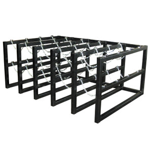 Gas Cylinder Barricade Rack, 20 Cylinder Capacity, 5 Wide / 4 Deep