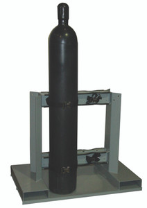 Gas Cylinder Forklift Pallet, 4 Cylinder Capacity-Individually Secured, Low Profile, Back-to-Back