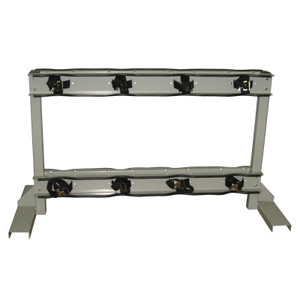 Gas Cylinder Stand, 8 Cylinder Capacity, Back-to-Back, Steel