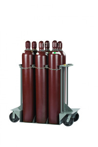 "Gas Cylinder Truck, 6 Cylinder Capacity, 24""x 50"" x 48"""