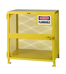 "Gas Cylinder Storage Cage, 2-3 Cylinder Capacity, 36"" x 26"" x 40"""