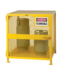 "Gas Cylinder Storage Cage, 4-6 Cylinder Capacity, 36"" x 38"" x 40"""