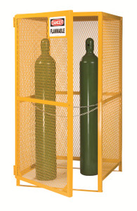 "Gas Cylinder Storage Cage, 5-15 Cylinder Capacity, 36""x 38"" x 70"""