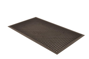 Anti-Fatigue / Anti-Slip Mat, Rubber, 504 Beveled Drain-Step