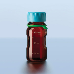 DURAN® YOUTILITY Bottle, Amber, GL45, Screw Cap, 250mL, case/4