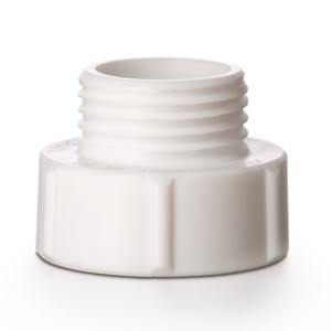 DURAN® GL56 to GL45 Thread Adapter For TILT Media Bottles, PTFE, White