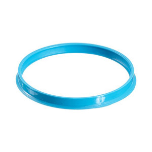 DURAN® YOUTILITY GL45 Replacement Pouring Rings, Cyan PP, pack/16