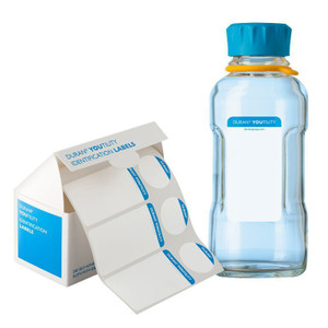 DURAN® YOUTILITY Printable Labels (200 Bottle + 200 Cap Labels), Adhesive Polyester