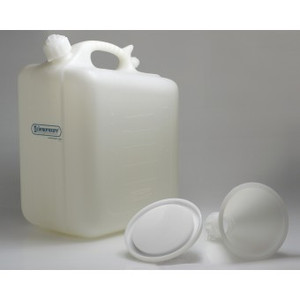 Plastic Waste Jug 5 gallon / 22 Liter Wide Mouth HDPE, Container