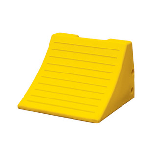 "Heavy Duty Lightweight Wheel Chock, 15"" x 15.1"" x 11"" Yellow, Single Unit"