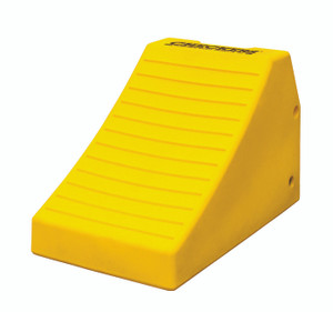 "Heavy Duty Lightweight Wheel Chock, 24.6"" x 14.5"" x 16"" Yellow, Single Unit"