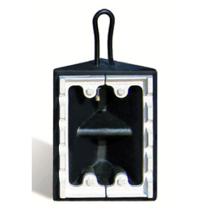 "Commercial Wheel Chock, Rubber, Black, 10"" x 8"" x 5.5"" with Ice Cleat, Single Unit"