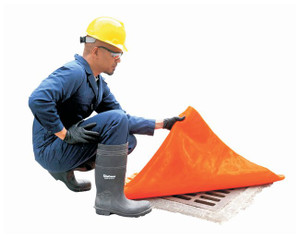 "Drain Seal, Water-Tight Flexible Cover, 18"" x 18"", 2-Hour Rated, Orange"
